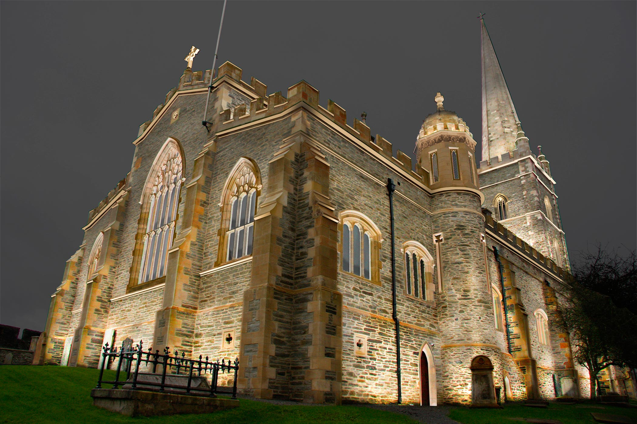 St Columbs Cathedral, Derry~Londonderry - CGI